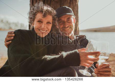 Senior Couple Enjoying Camping Holiday