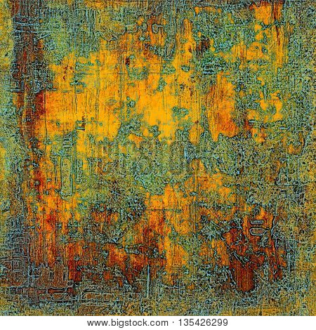 Retro abstract background, vintage grunge texture with different color patterns: yellow (beige); brown; blue; gray; red (orange)
