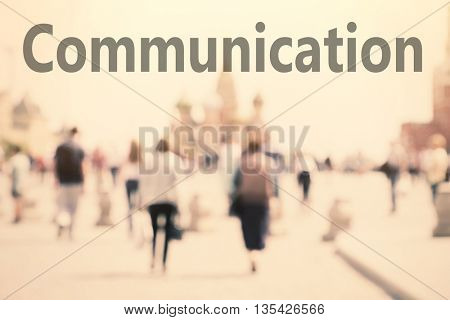 Communication concept. Abstract background