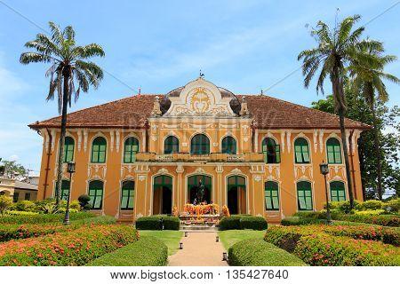 Chao Phraya Abhaibhubejhr Hospital And Thai Traditional Medicine Museum, Prachinburi, Thailand.