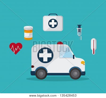 Medical concept about health icons design, vector illustration 10 eps graphic., Vector design