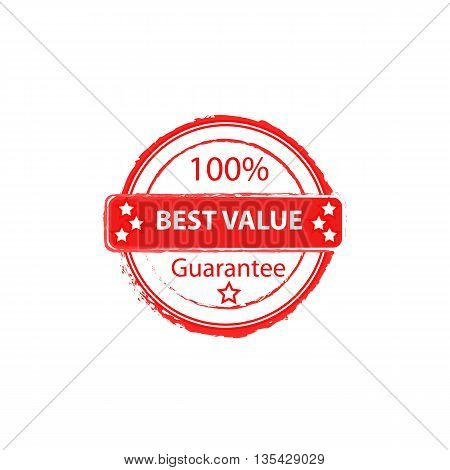 100% best value guarantee round vector stamp