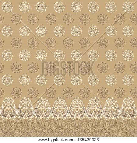 Pattern with traditional indian ornament. Seamless pattern for your design pattern fills web page backgrounds textures.