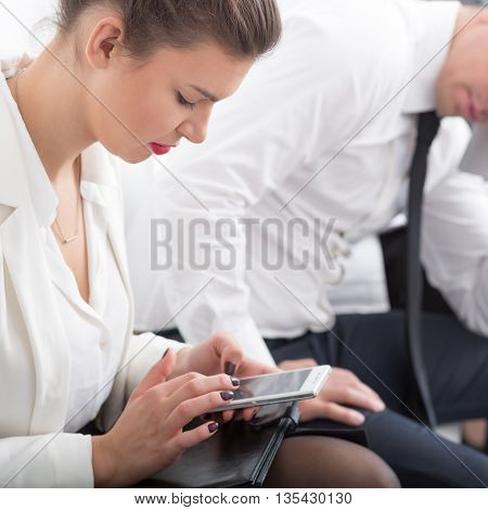 Corporate Worker With Mobile Phone