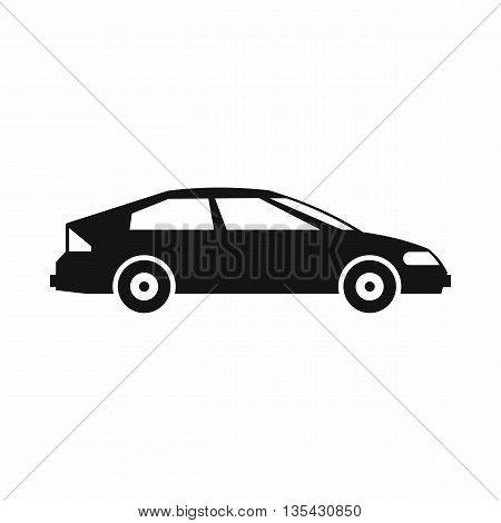 Car icon in simple style isolated on white background