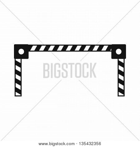 Barrier icon in simple style isolated on white background