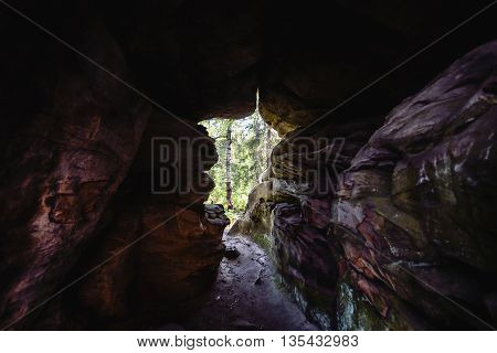 hole in the rock, Ural, stone city