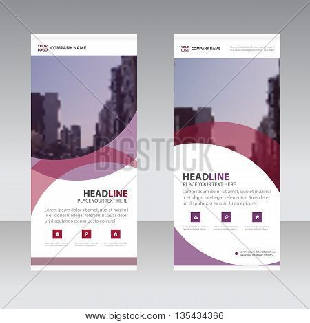Purple abstract Business Roll Up Banner flat design template Abstract Geometric banner template Vector illustration set abstract presentation template