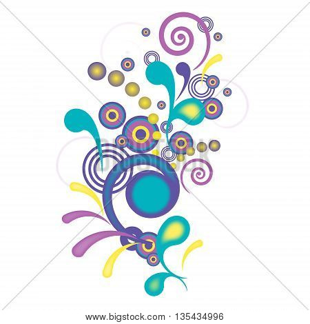 The abstract pattern with a colorful swirls