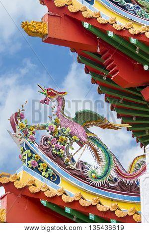 Detail from Thean Hou Temple in Kuala Lumpur, Malaysia