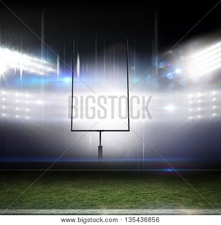 American football arena with flashlight