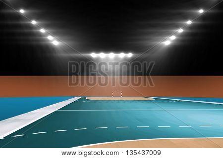 Image of empty handball field