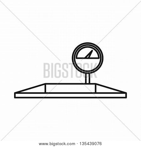 Parking scales icon in outline style isolated on white background