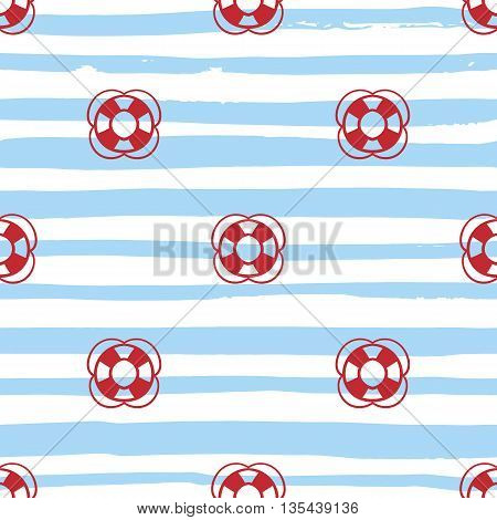 Grunge marine seamless pattern. Vector sea design. Striped background.