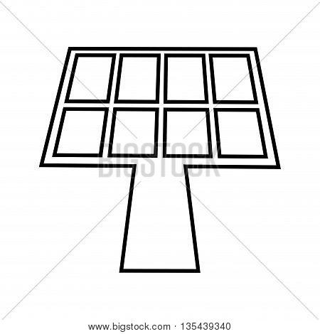 panel solar isolated icon design, vector illustration  graphic