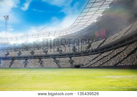 Composite image of a stadium with tribune