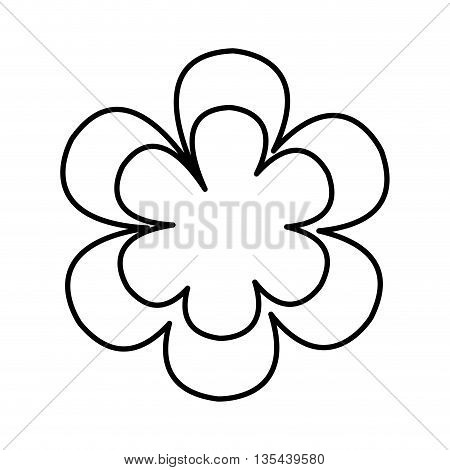 beutiful flower isolated icon design, vector illustration  graphic
