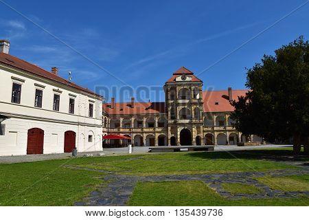Castle Moravska Trebova, Czech Republic. Castle Gardens.