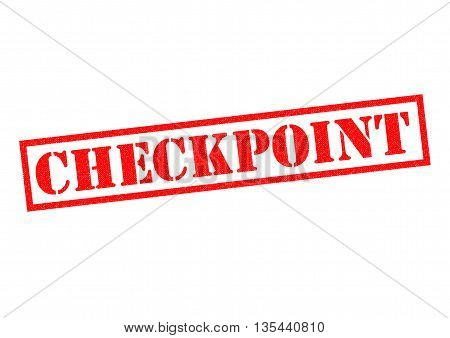 CHECKPOINT red Rubber Stamp over a white background.