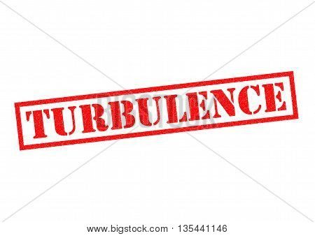 TURBULENCE Rubber Stamp over a white background.