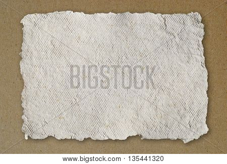 Handmade paper texture background with stripes pattern