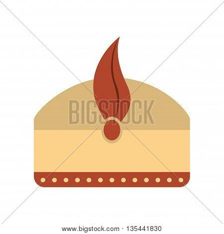 Turban magician king isolated icon design, vector illustration  graphic
