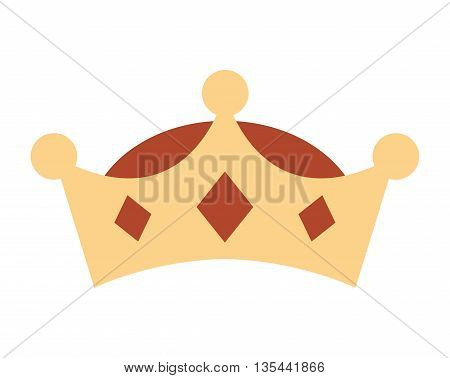 crown king isolated icon design, vector illustration  graphic
