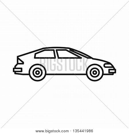Car icon in outline style isolated on white background