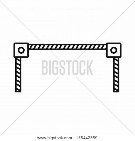 Barrier icon in outline style isolated on white background
