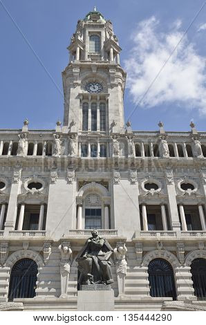 City hall in Avenue Dos Aliados Porto Portugal