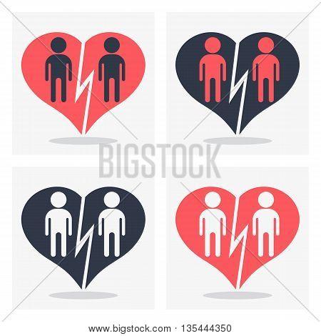 Gay Couple With Broken Heart