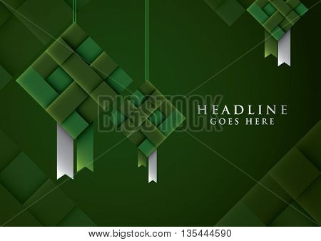Vector of stylized festive element and background