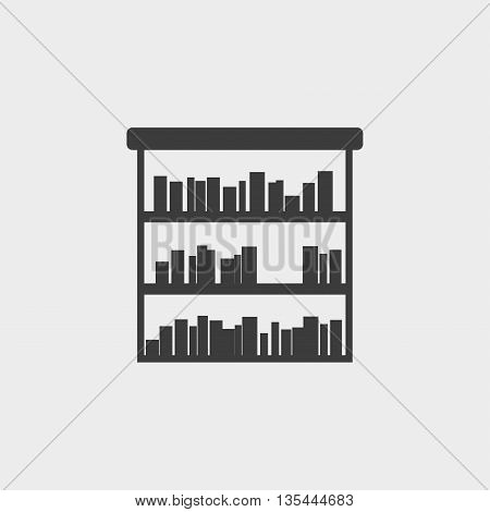 bookshelf icon Car Icon in a flat design in black color. Vector illustration eps10