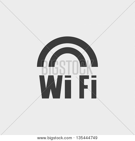 WiFi icon Car Icon in a flat design in black color. Vector illustration eps10