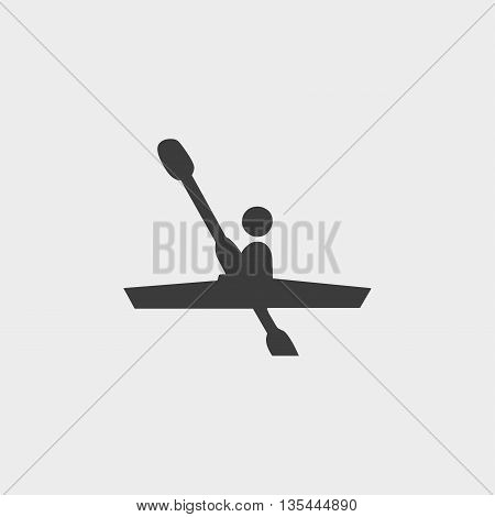 Kayaking icon Car Icon in a flat design in black color. Vector illustration eps10