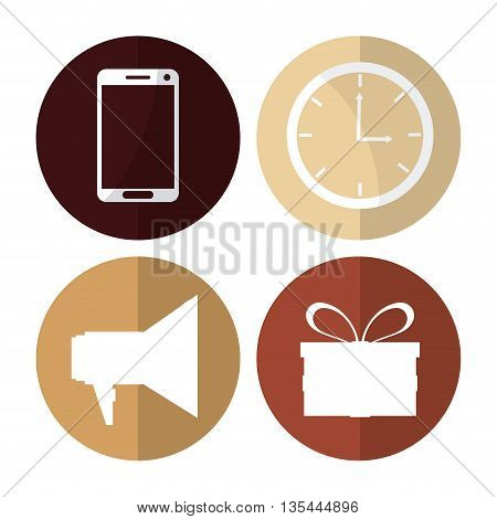 digital marketing concept online icons design, vector illustration 10 eps graphic.