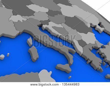 Italy On Political Earth Model