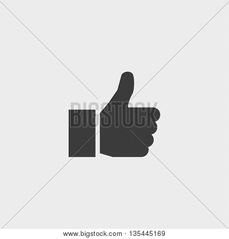 thumbs up icon Car Icon in a flat design in black color. Vector illustration eps10