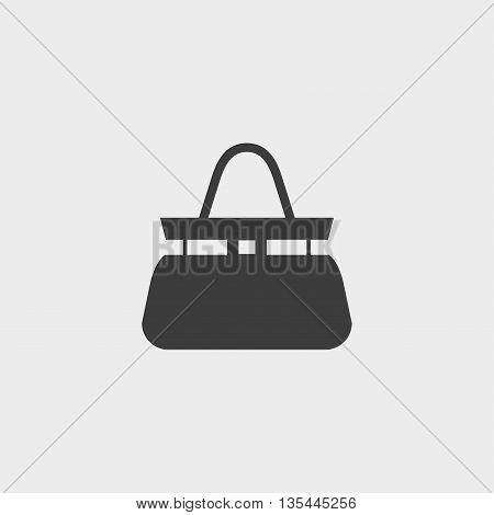 Handbag icon Car Icon in a flat design in black color. Vector illustration eps10