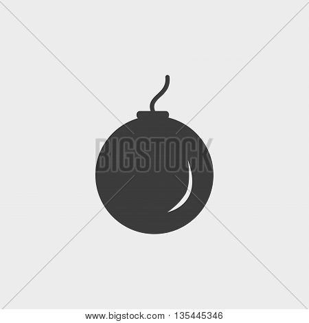 bomb icon Car Icon in a flat design in black color. Vector illustration eps10