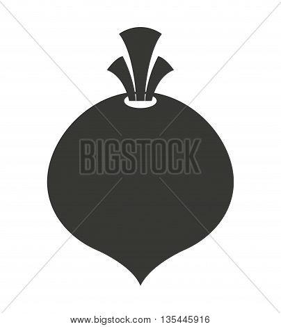fresh onion  isolated icon design, vector illustration  graphic