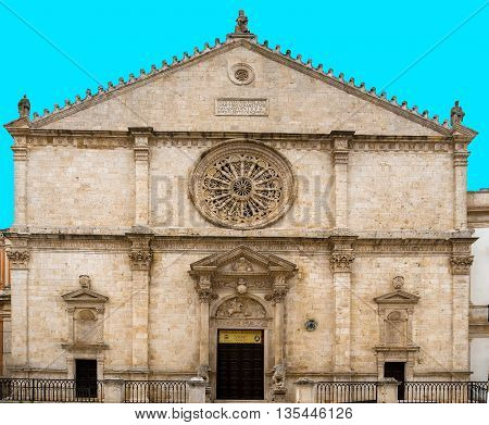 Cathedral of Acquaviva one of the most beautiful villages in Italy. Puglia - Italy