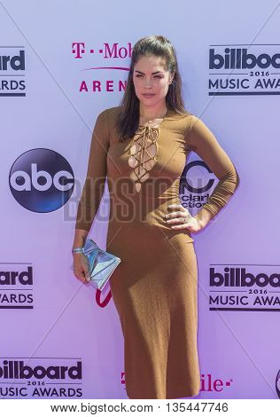LAS VEGAS - MAY 22 : Actress Kelly Thiebaud attends the 2016 Billboard Music Awards at T-Mobile Arena on May 22 2016 in Las Vegas Nevada.