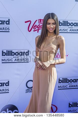 LAS VEGAS - MAY 22 : Singer/actress Zendaya attends the 2016 Billboard Music Awards at T-Mobile Arena on May 22 2016 in Las Vegas Nevada.