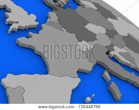 France On Political Earth Model