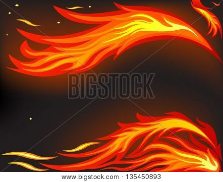Vector of fire flame background