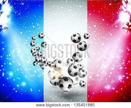Football background soccer background with light easy all editable