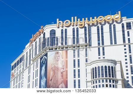 LAS VEGAS - MAY 21 : Planet Hollywood Resort and Casino in Las Vegas on May 21 2016. Planet Hollywood has over 2500 rooms available and it located on Las Vegas Boulevard.