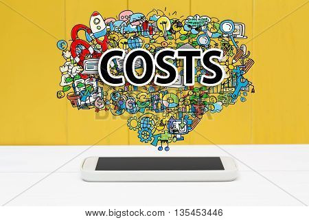 Costs Concept With Smartphone