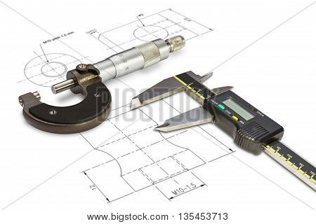 Micrometer And Digital Vernier Calipers